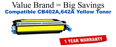 CB402A,642A Yellow Compatible Value Brand toner