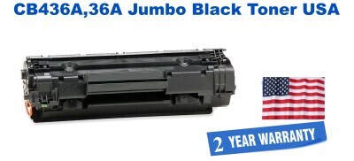 CB436A,36A Jumbo Premium USA Made Remanufactured HP Toner 50% Higher Yield
