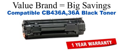 CB436A,36A Black Compatible Value Brand toner