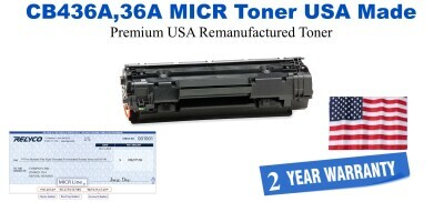 CB436A,36A MICR USA Made Remanufactured toner