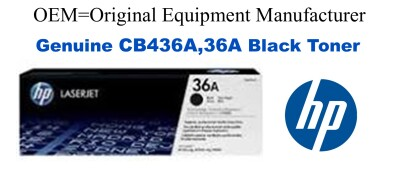 CB436A,36A Genuine Black HP Toner