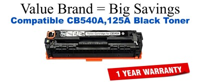 CB540A,125A Black Compatible Value Brand toner