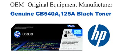 CB540A,125A Genuine Black HP Toner