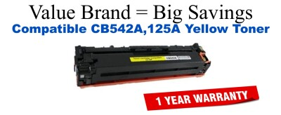 CB542A,125A Yellow Compatible Value Brand toner