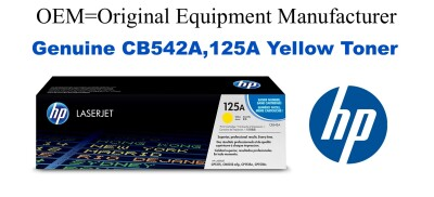 CB542A,125A Genuine Yellow HP Toner