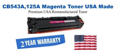 CB543A,125A Magenta Premium USA Made Remanufactured HP toner
