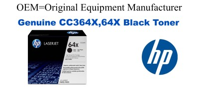 New Original HP 64X Black Toner Cartridge (CC364X)