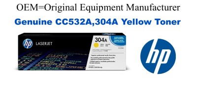 CC532A,304A Genuine Yellow HP Toner