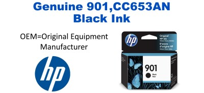 New Original HP 901 Black Ink Cartridge (CC653A) (#901)