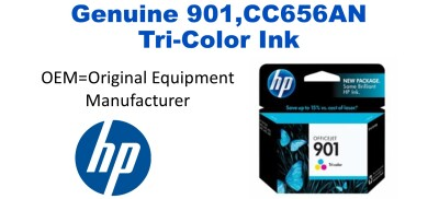 901,CC656AN Genuine Tri-Color HP Ink