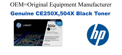 New Original HP 504X Black Toner Cartridge (CE250X)