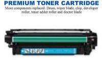 HP 504A Cyan Premium Toner Cartridge (CE251A)