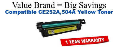 HP 504A Yellow Economy Toner Cartridge (CE252A)