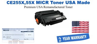 CE255X,55X MICR USA Made Remanufactured toner