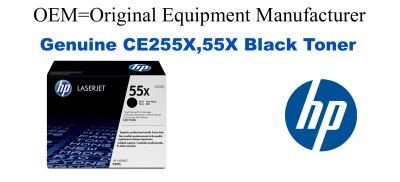 CE255X,55X Genuine High Yield Black HP Toner