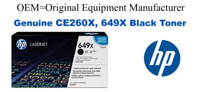 New Original HP 649X Black Toner Cartridge (CE260X)