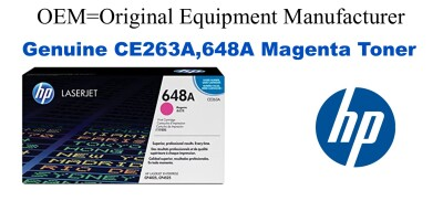 New Original HP 648A Magenta Toner Cartridge (CE263A)