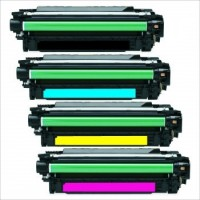 HP 650A Economy Color Toner Set Cartridge (CE270A, 71A, 72A, 73A)