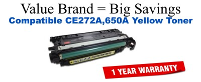 CE272A,650A Yellow Compatible Value Brand toner