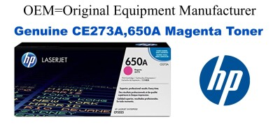 New Original HP 650A Magenta Toner Cartridge (CE273A)