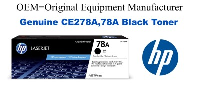 New Original HP 78A Black Toner Cartridge (CE278A)