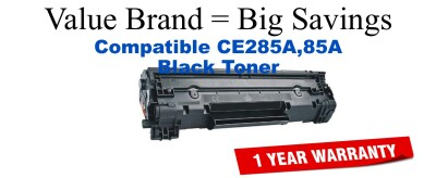 CE285A,85A Black Compatible Value Brand toner