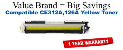 HP 126A Yellow Economy Toner Cartridge (CE312A)