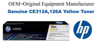 CE312A,126A Genuine Yellow HP Toner