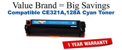 HP 128A Cyan Economy Toner Cartridge (CE321A)