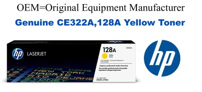 CE322A,128A Genuine Yellow HP Toner