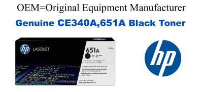 CE340A,651A Genuine Black HP Toner