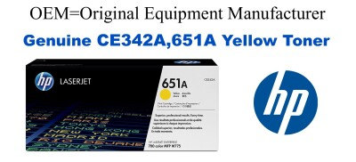 CE342A,651A Genuine Yellow HP Toner