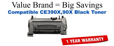 CE390X,90X High Yield Black Compatible Value Brand toner