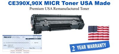CE390A,90X High Yield Black Premium USA Made Remanufactured HP toner