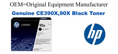 New Original HP 90X Black Toner Cartridge (CE390X)