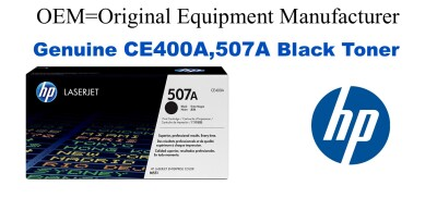 New Original HP 507A Black Toner Cartridge (CE400A)