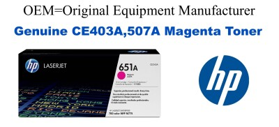 New Original HP 507A Magenta Toner Cartridge (CE403A)