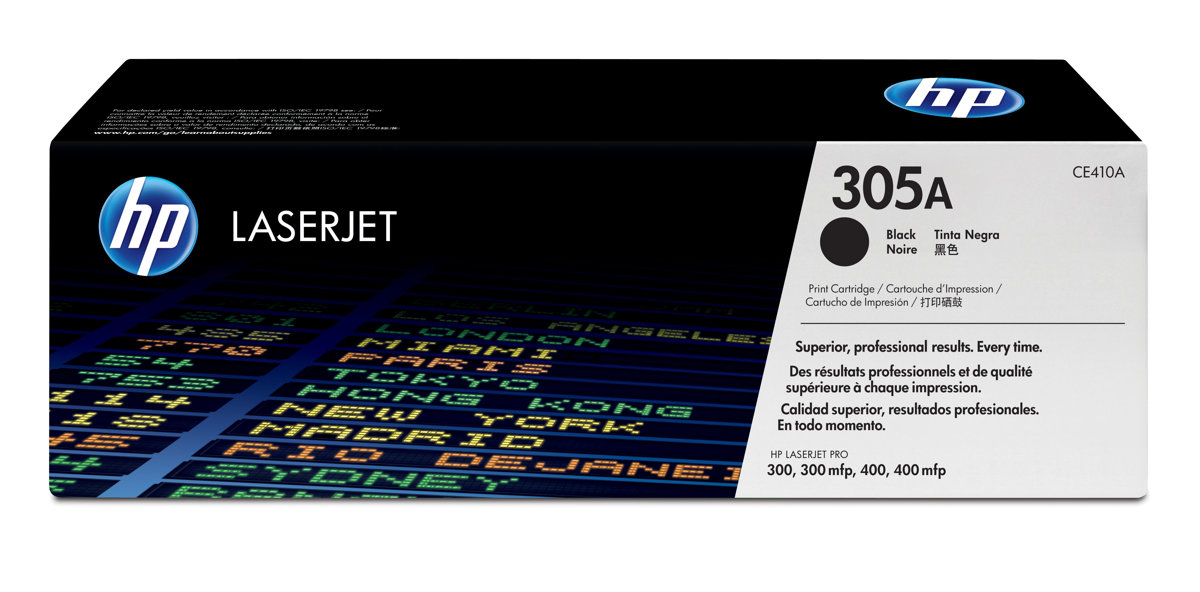 New Original HP 305A Black Toner Cartridge (CE410A)