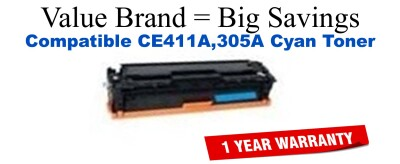 HP 305A Cyan Economy Toner Cartridge (CE411A)