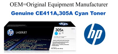 New Original HP 305A Cyan Toner Cartridge (CE411A)
