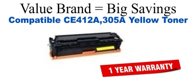 HP 305A Yellow Economy Toner Cartridge (CE412A)