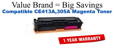 CE413A,305A Magenta Compatible Value Brand toner