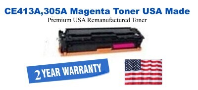 CE413A,305A Magenta Premium USA Made Remanufactured HP toner