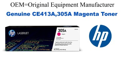 New Original HP 305A Magenta Toner Cartridge (CE413A)