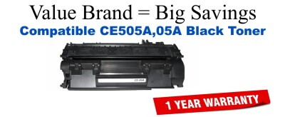 HP 05A Black Remanufactured Toner Cartridge (CE505A)