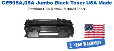 CE505A,05A Jumbo Premium USA Made Remanufactured HP Toner 50% Higher Yield