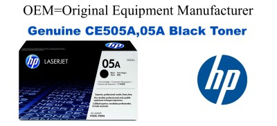 New Original HP 05A Black Toner Cartridge (CE505A)