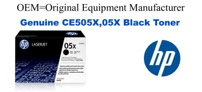 New Original HP 05X Black Toner Cartridge (CE505X)