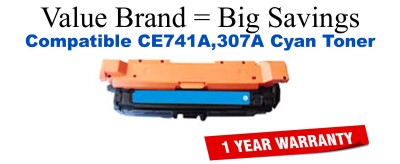 HP 307A Cyan Economy Toner Cartridge (CE741A)