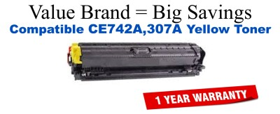 HP 307A Yellow Economy Toner Cartridge (CE742A)